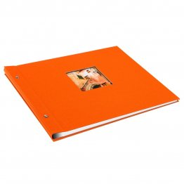 Goldbuch Bella Vista losbladig album 39x31 orange zwart blad