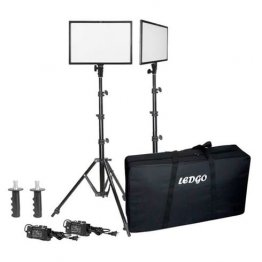 Ledgo E268CII Bi-color kit w/light stands (2 ligh/ high out)